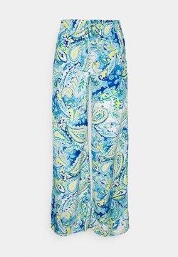 Lauren Ralph Lauren - ZIAKASH WIDE LEG PANT - Stoffhose - blue multi