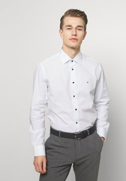 Tommy Hilfiger Tailored - POPLIN DOT  CLASSIC SHIRT - Businesshemd - white