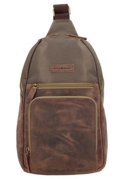 Greenburry - VINTAGE TEC - Umhängetasche - brown/olive