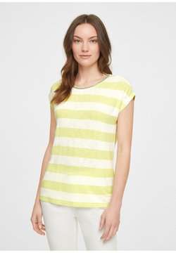 comma casual identity - T-Shirt print - soft lime stripes