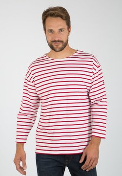 Armor lux - BEG MEIL MARINIÈRE - Langarmshirt - blanc/braise
