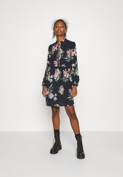 Vero Moda - VMSAGA SHORT DRESS - Freizeitkleid - navy blazer/sita