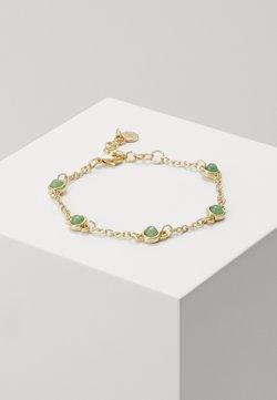 SNÖ of Sweden - AGATHA SMALL CHAIN BRACE - Bracelet - gold-coloured/green