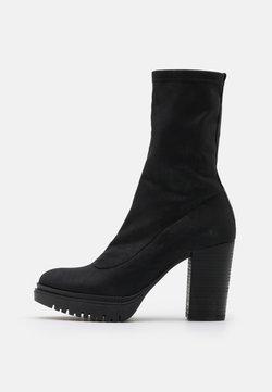 Felmini - JANICE - Laarzen met hoge hak - delicius black