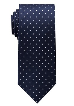 Eterna - Krawatte - marineblau/ weiss