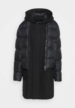 Neil Barrett - HYBRID PUFFER DUFFLE COAT - Veste d'hiver - black