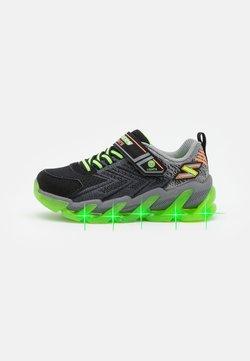 Skechers - MEGA SURGE - Sneaker low - black/lime/orange