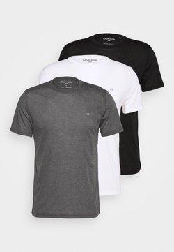 Calvin Klein Golf - 3 PACK - T-Shirt basic - black/white/charcoal