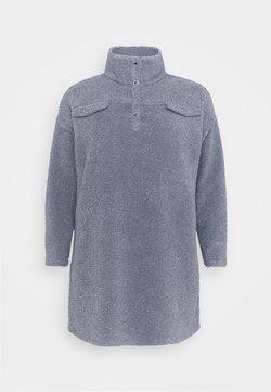 Missguided Plus - UTILITY BUTTON DRESS BORG - Strickkleid - slate blue