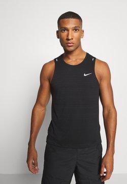 Nike Performance - MILER TANK - Camiseta de deporte - black/silver
