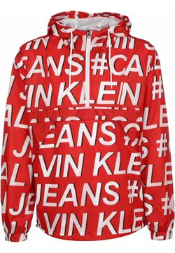 Calvin Klein Jeans - WINDBREAKER LOGO NYLON POP OVER - Windbreaker - red