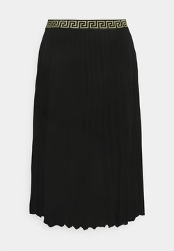 CAPSULE by Simply Be - PLEATED SKIRT WITH WAISTBAND - Faltenrock - black