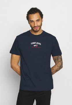 Tommy Jeans - TIMELESS SCRIPT TEE UNISEX - T-shirt print - twilight navy
