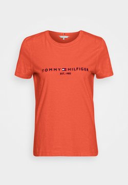 Tommy Hilfiger - T-shirt print - oxidized orange