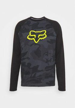 Fox Racing - TOURNAMENT CAMO TECH TEE - Pitkähihainen paita - black