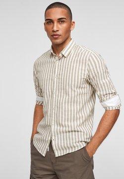 Q/S designed by - Hemd - beige stripes