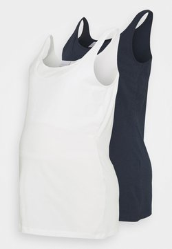 Mamalicious Curve - MLSIA NELL TANK 2 PACK - Top - navy/snow white