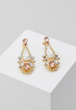 Pieces - DROP EARRINGS - Earrings - gold-coloured/blush
