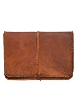 Gusti Leder - Notebooktasche - braun