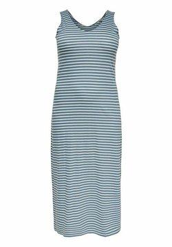 ONLY Carmakoma - CARAPRIL LIFE V-NECK DRESS - Jerseykleid - blue mirage