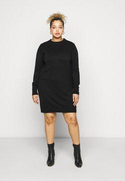 CAPSULE by Simply Be - LIKE DRESS - Strickkleid - black