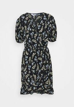 Dorothy Perkins Tall - SPRIG DITSY FOCHETTE MINI FRILL FRONT DRESS - Jerseykleid - multi
