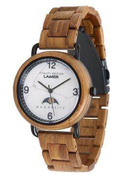 LAIMER - LAIMER QUARZ HOLZUHR - ANALOGE ARMBANDUHR GERLINDE - Uhr - ocher