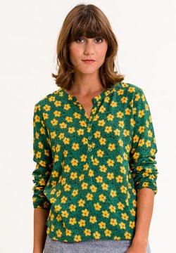 UVR Berlin - ADILEINA - Bluse - grün mit gelbem blütenprint