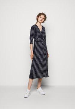 Lauren Ralph Lauren - MATTE DRESS - Jerseykleid - navy/colonial