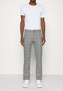Tommy Hilfiger - DENTON CHECK PANT - Chinot - black