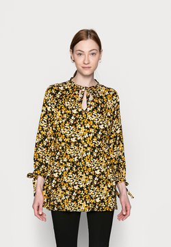 Dorothy Perkins Tall - SPOT SMOCK WOVEN - Tunic - yellow/black
