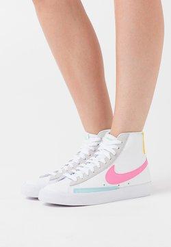 Nike Sportswear - BLAZER - Sneakersy wysokie - white/pink glow/pure platinum/glacier ice/illusion green/speed yellow