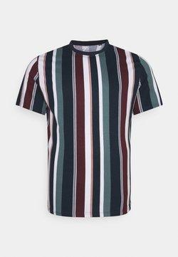 Johnny Bigg - BRENT STRIPE CREW TEE - T-Shirt print - sage