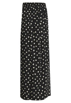 Dorothy Perkins Tall - SPOT SPLIT SIDE SKIRT - Maxirock - black