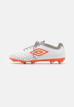 Umbro - VELOCITA V PREMIER FG - Moulded stud football boots - white/carrot/frost gray