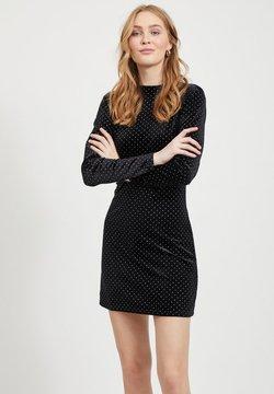 Vila - MIT LANGEN ÄRMELN GEPUNKTETES - Cocktailkleid/festliches Kleid - black