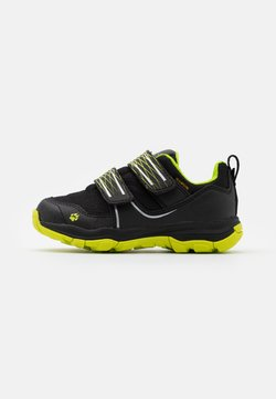Jack Wolfskin - MTN ATTACK 3 TEXAPORE LOW UNISEX - Obuwie hikingowe - black/lime