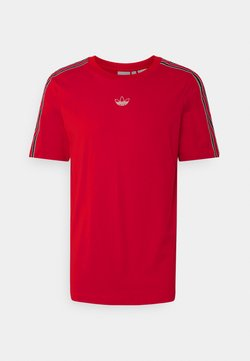 adidas Originals - SPORT 3 STRIPE COLLECTION ORIGINALS - T-Shirt print - vivid red