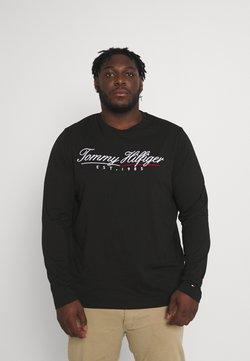 Tommy Hilfiger - SCRIPT LOGO TEE UNISEX - T-shirt à manches longues - black