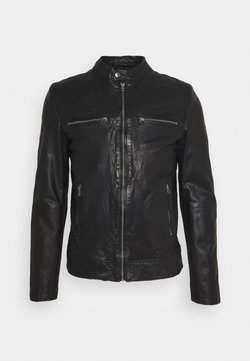 Goosecraft - KYLL BIKER - Leather jacket - black