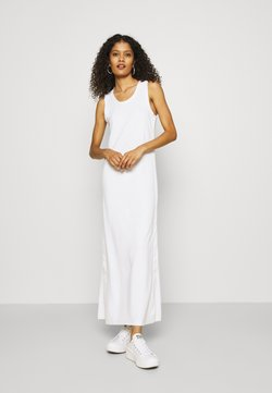 Calvin Klein - LOGO SCOOP MAXI DRESS - Maxi dress - bright white