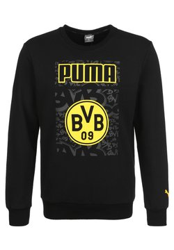 Puma - BORUSSIA DORTMUND FTBLCORE GRAPHIC  - Sweatshirt - puma black  cyber yellow