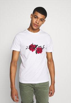 YOURTURN - T-shirt z nadrukiem - white