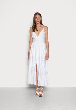 Abercrombie & Fitch - RESORT BUTTON DRESS  - Maxiklänning - white