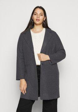 ONLY Carmakoma - CARCAROL BONDED COAT - Classic coat - dark grey melange