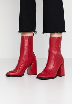 Koi Footwear - VEGAN  - High heeled ankle boots - red