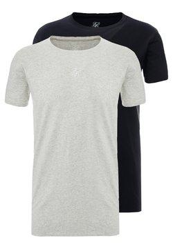 SIKSILK - SIKSILK 2 PACK TEE - T-shirts print - black/grey marl