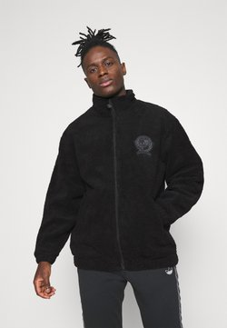 adidas Originals - COLLEGIATE CREST TEDDY TRACK JACKET - Lett jakke - black