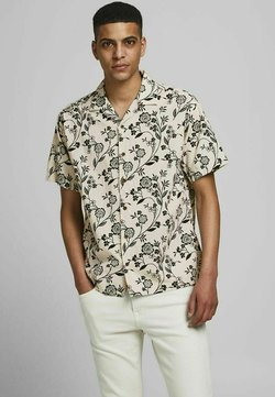 Jack & Jones PREMIUM - TROPENPRINT - Camicia - cloud dancer