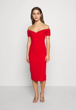WAL G PETITE - BARDOT DRESS - Vestido de cóctel - red